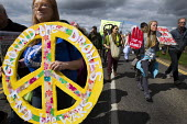 Ground the Drones protest at Waddington Military Air Base, Lincoln. - Jess Hurd - 2010s,2013,activist,activists,against,aircraft,anti,Anti War,Antiwar,armed forces,base,campaign,Campaign for Nuclear Disarmament,campaigner,campaigners,campaigning,CAMPAIGNS,CND,CND Symbol,DEMONSTRATI