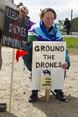 Ground the Drones protest at Waddington Military Air Base, Lincoln. - Jess Hurd - 2010s,2013,activist,activists,against,age,ageing population,aircraft,anti,Anti War,Antiwar,armed forces,base,campaign,Campaign for nuclear disarmament,campaigner,campaigners,campaigning,CAMPAIGNS,CND,
