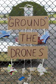 Ground the Drones protest at Waddington Military Air Base, Lincoln. - Jess Hurd - 2010s,2013,activist,activists,against,aircraft,anti,Anti War,Antiwar,armed forces,base,campaign,Campaign for nuclear disarmament,campaigner,campaigners,campaigning,CAMPAIGNS,CND,DEMONSTRATING,Demonstr