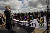 Kate Hudson CND, Ground the Drones protest at Waddington Military Air Base, Lincoln. - Jess Hurd - 27-04-2013