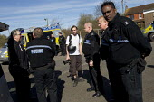 Press photographers get pulled off the motorway by traffic police and stop and searched for weapons under S60 and S60AA of the Public Order Act, quoted as the Terrorism Act. On route to the March for... - Jess Hurd - 21-04-2013