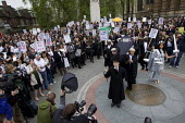 Protest outside Parliament to defend legal aid. Westminster, London. - Jess Hurd - 22-05-2013