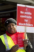 Protest by blacklisted workers outside the Railtex Exhibition, where the Crossrail CEO is making a key note address. Earls Court, London. - Jess Hurd - 2010s,2013,activist,activists,at,BAME,BAMEs,Black,blacklist,blacklisted,blacklisting,BME,bmes,campaign,campaigner,campaigners,campaigning,CAMPAIGNS,Court,DEMONSTRATING,Demonstration,DEMONSTRATIONS,dis