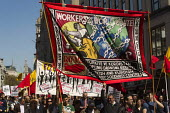 May day, International Workers Day. London. - Jess Hurd - 2010s,2013,activist,activists,anti capitalism,Anti Capitalist,BANNER,banners,CAMPAIGN,campaigner,campaigners,CAMPAIGNING,CAMPAIGNS,DEMONSTRATING,Demonstration,DEMONSTRATIONS,ISLAM,ISLAMIC,kurdish,kurd