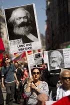 Karl Marx, May day, International Workers Day. London - Jess Hurd - 01-05-2013