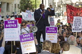 David Lammy MP. Protest outside the Ministry of Justice to defend legal aid. Westminster, London. - Jess Hurd - 04-06-2013