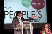 Campaigning comedian Mark Steel. The People's Assembly Against Austerity, Methodist Central Hall, Westminster, London. - Jess Hurd - 2010s,2013,activist,activists,Against,Assembly,Austerity,CAMPAIGN,campaigner,campaigners,Campaigning,CAMPAIGNS,DEMONSTRATING,DEMONSTRATION,DEMONSTRATIONS,left,left wing,leftwing,London,member,member m