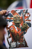 Loyalist protest using The Trooper from an Iron Maiden album cover T-shirt, The Trooper became an unofficial mascot of the Ulster Freedom Fighters loyalist paramilitary group. G8 summit, Northern Irel... - Jess Hurd - 15-06-2013