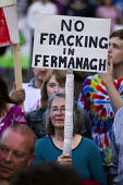 No Fracking. Protest against the G8 Summit, Fermanagh. Northern Ireland. - Jess Hurd - 17-06-2013