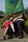 Anti G8 protesters march to the Summit fence in Eniskillen, Fermanagh, Northern Ireland. - Jess Hurd - 17-06-2013