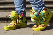 Birmingham youth fashion, Adidas, Flower Teddy Sneakers by Jeremy Scott. West Midlands. - Jess Hurd - 06-07-2013
