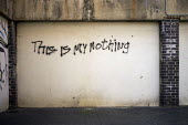 This Is My Nothing - graffiti on a wall in Camden Town, London. - Jess Hurd - 2010s,2013,cities,city,graffiti,graffito,PEOPLE,person,persons,post modernism,postmodernism,profound,scene,scenes,Social Issues,SOI,street,streets,urban,young,younger,youth