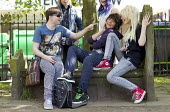 Youth hanging out in Birmingham City Centre on Saturday. West Midlands. - Jess Hurd - 06-07-2013
