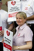 Supporting Crown Post Offices. CWU march from Broadway Crown Office picket line to a rally at Portcullis House, Westminster. - Jess Hurd - 17-07-2013