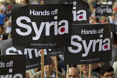 Hands of Syria - Stop the War protest outside Downing Street. Westminster, London. - Jess Hurd - 28-08-2013