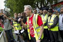 John McLoughlan Tower Hamlets Unison Branch Secretary. Protest against the English Defence League. Altab Ali Park, Tower Hamlets, East London. - Jess Hurd - 07-09-2013