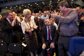 Len McCluskey, Unite Gen Sec receiving a standing ovation. Labour Party Conference 2013. Brighton. - Jess Hurd - 23-09-2013