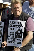 Axe the bedroom tax protest outside Liberal Democrats Conference, Glasgow. - Jess Hurd - 14-09-2013