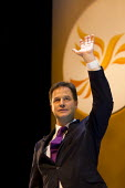 Nick Clegg MP. Liberal Democrats Conference, Glasgow. - Jess Hurd - 2010s,2013,applauding,applause,Conference,conferences,Democrats,Liberal,liberals,ovation,POL,political,POLITICIAN,POLITICIANS,Politics,SPEAKER,SPEAKERS,speaking,SPEECH,wave,waving