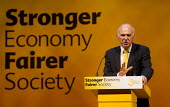 Vince Cable MP. Liberal Democrats Conference, Glasgow. - Jess Hurd - 16-09-2013