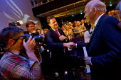 Nick Clegg MP shaking hands with Vince Cable MP. Liberal Democrats Conference, Glasgow. - Jess Hurd - 16-09-2013