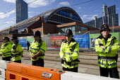 Police guarding the Conservative Party Conference 2013. Manchester. - Jess Hurd - 29-09-2013