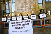 DSEI peace protesters arrested during direct action at the arms fair appear at Thames Magistrates Court, East London - Jess Hurd - 04-11-2013