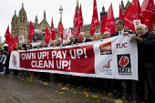 Own Up! Pay Up! Clean Up! TUC Day of Action against Blacklisting - illegal employer discrimination of blacklisted workers. Westminster, London. - Jess Hurd - 20-11-2013