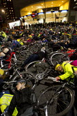 Mass Cycle Die-In outside Transport for London HQ calling for action after the recent road deaths. London. - Jess Hurd - 29-11-2013