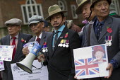 Gurkhas, British Army veterans from Nepal and India stage a hunger strike for equal pensions. Whitehall, London. - Jess Hurd - 2010s,2013,activist,activists,against,age,ageing population,armed forces,asian asians,BAME,BAMEs,black,bme,BME black,bmes,CAMPAIGN,campaigner,campaigners,CAMPAIGNING,CAMPAIGNS,cultural,DEMONSTRATING,d