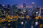 View from the Marina Bay Sands SkyPark Infinity Pool, luxury 5 Hotel. Singapore. - Jess Hurd - 22-10-2013