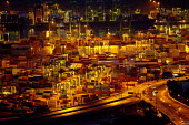 Container port at night, Singapore - Jess Hurd - 22-10-2013