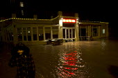 Pub on the pier flooded at high tide as storm surge Xavier hits Great Yarmouth, East Anglia. - Jess Hurd - 05-12-2013