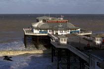 Cromer Pier. Storm surge Xaviar smashes the seafront Cromer, East Anglia. - Jess Hurd - 05-12-2013