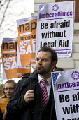 Napo members join protest outside Westminster Magistrates Court against cuts to legal aid organised by the Criminal Bar Association. Coinciding with criminal barristers and solicitors not attending co... - Jess Hurd - 06-01-2014