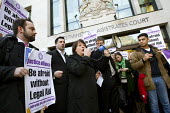 Janis Sharp, mother of Gary McKinnon, hacker saved from extradition to the US. Protest outside Westminster Magistrates Court against cuts to legal aid organised by the Criminal Bar Association. Coinci... - Jess Hurd - 06-01-2014