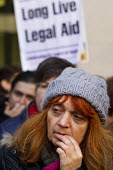 Protest outside Westminster Magistrates Court against cuts to legal aid organised by the Criminal Bar Association. Coinciding with criminal barristers and solicitors not attending court before 2pm in... - Jess Hurd - 06-01-2014