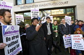 Diane Abbott MP. Protest outside Westminster Magistrates Court against cuts to legal aid organised by the Criminal Bar Association. Coinciding with criminal barristers and solicitors not attending cou... - Jess Hurd - 06-01-2014