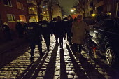 """Residents defy the police imposed """"Danger Zone"""", designated areas in Hamburg where freedom of assembly is suspended St Pauli, Hamburg, Germany. - Jess Hurd - 08-01-2014"""
