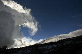 Rolling snow storm clouds, Mount Etna National Park, Sicily, Italy. - Jess Hurd - 21-01-2014
