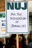 NUJ protest at the Egyptian Embassy calling for the release of all detained journalists in Egypt and an end to the crack-down on media workers. Many have been killed, others, including Peter Greste, M... - Jess Hurd - 19-02-2014
