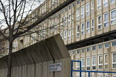 Robin Hood Gardens, over 60's club sign. A 1960's council housing development, designed by architects Alison and Peter Smithson , now due for demolition and redevelopment. Poplar, Tower Hamlets, one o... - Jess Hurd - 17-03-2014
