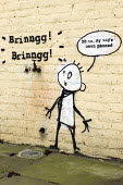 Brinngg, Brinngg - Banksy phone tapping graffiti. Poplar, East London. - Jess Hurd - 17-03-2014
