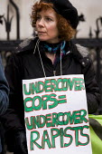 Protest outside the Royal Courts of Justice supporting women who have been deceived and abused by undercover police officers. London. - Jess Hurd - 18-03-2014