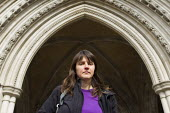 Helen Steel, one of the activists who is sueing the police for undercover deception and abuse. Royal Courts of Justice. London. - Jess Hurd - 18-03-2014