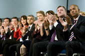 The shadow cabinet during Ed Miliband MP 's speech. Labour Party Special Conference on reform of its link to trade unions, ExCel Centre, London. - Jess Hurd - 01-03-2014