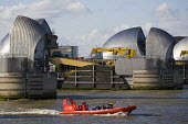 The Thames Barrier flood defence run by the The Environment Agency. East London. - Jess Hurd - 23-03-2014