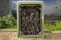 Broken telephone exchange box. Poplar, Tower Hamlets, one of the poorest boroughs in London. - Jess Hurd - 17-03-2014