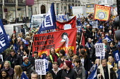 Blair Peach banner. NUT strike and march about pay, pensions and conditions. Central London. - Jess Hurd - 26-03-2014