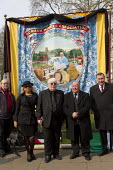 Durum Miners Association banner. NUM. The funeral of Tony Benn, former MP and cabinet member. Westminster, London. - Jess Hurd - 27-03-2014